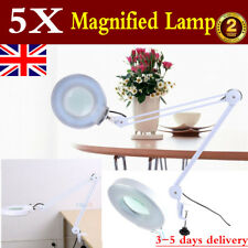 5X Magnifier Lamp Desk Light Clip On Magnifying Beauty Makeup Tattoo Manicure UK