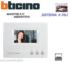 """MONITOR AGGIUNTIVO 330651 X VIDEOCITOFONO 315511 - 315311 BTICINO A COLORI 4,3"""""""