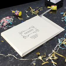 Personalised Rilegato Libro degli ospiti & penna wedding GUESTBOOK BED & BREAKFAST HOTEL