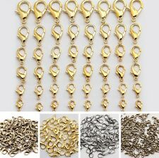 Wholesale Alloy Lobster Clasps Claw Hook Jewelry Findings 10/12/14/16/18/21mm