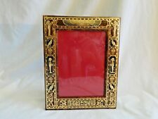 """Egyptian Genuine Leather Brown Handmade Picture Frame Pharaoh 10.25"""" X 8"""""""