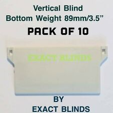 "89mm/3½"" Vertical Blind Bottom Weights Plastic White PACK OF 10"