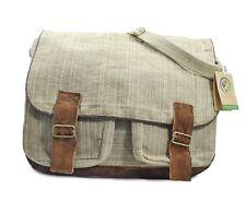 Mato Hemp Crossbody Satchel Laptop Shoulder Messenger Bag Suede Buckle Unisex