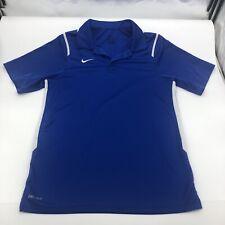 Nike Mens Athletic Golf Polo Shirt Dri Fit Blue Size Small