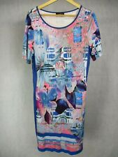 Lo'x by Looxent UK Size 22 Dress Colourful Floral Pattern Short Sleeve EU 48
