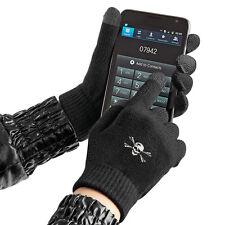Touch Handschuhe mit Spezialeinsaetzen an den Fingerkuppen S-XL Totenkopf  31652