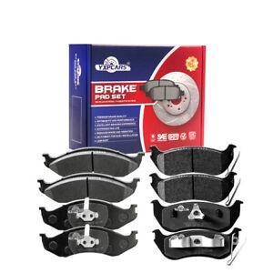 Front & Rear Ceramic Disc Brake Pads Fit For Jeep Wrangler 2003 2004 2005 2006