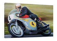 Mike Hailwood LARGE Canvas 30x20 VERY RARE Isle of Man TT Honda Framed Picture