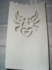 5x Taubenpaar Herz Lichttüte Kerzentüte Hochzeit Candlebag Luminarias