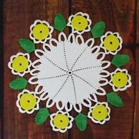 Vintage crochet round doily Colorful spring doily Crocheted round placemat 13