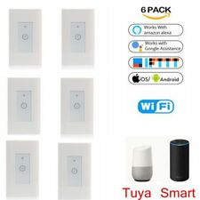 6 xSmart LED Light Dimmer WiFi Wall Touch Switch Work with Alexa Google IFTTT US