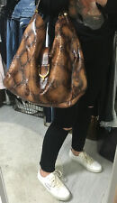 GUCCI *ORIGINAL 2013* Tan Python Leather Large *STIRRUP* Bag £3,000