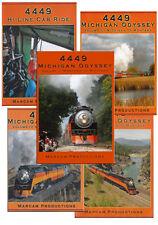 4449 Michigan Odyssey Complete 5 DVD Collection Vol 1-5 Oregon Montana Cab Ride
