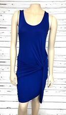Vanity Room Women's Blue Bodycon Sheath Dress Medium Twist Front New Nordstrom