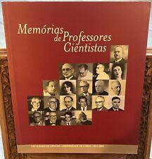 Memorias de professores cientistas 2001 Faculdade de ciencias universidad lisboa