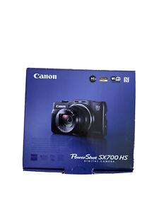 "Red Canon Digital Camera Power Shot Sx700 Hs Optical 30x Optical Zoom 3.0"" Box"