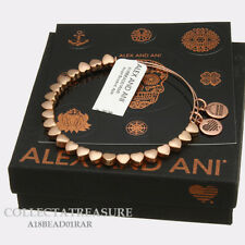 Authentic Alex and Ani Heart Beaded Rose Gold Expandable Bangle