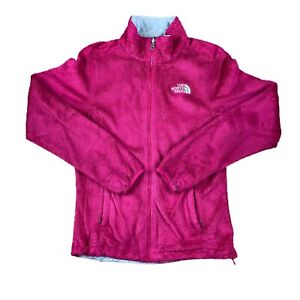 The North Face Women's Small Fleece Zipped Hot Pink Y2K Plain Embroidered Logo