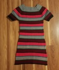 Handmade Vintage Striped Knit Sweater Dress, Size Small