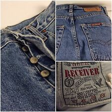 Receiver Jeans Size 12R 26x31 Medium Wash Button Fly Made in UK (F326) YGI