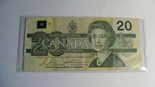 BANK OF CANADA -   OTTAWA 1991 -  TWENTY 20 DOLLARS - PAPER CURRENCY -  CANADIAN