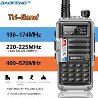 BaoFeng UV-S9 Tri-Band Radio VHF,1.25M,220 Antenna,UHF,Ham Two Way Radio Silver