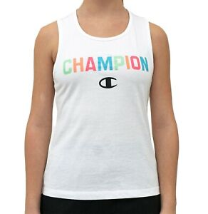 Champion Girls' Collegiate Tank Top (White, Size Large)