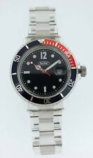 NOW Mens Watch Polycarbonate Black Rotating Red Bezel Brand New Boxed 3ATM WR