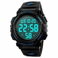 Mens Digital Sports Watch, Outdoors Running 5ATM Waterproof Military Watches, Co