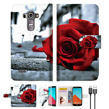 Blooming Rose Wallet TPU Case Cover For LG G4-- A011