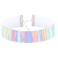 Holographic Choker Necklace - Shiny Rainbow, Rave Clubbing, Harajuku Jewelry