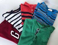 CREW CUTS GAP CAT & JACK Boys Long Sleeve Shirt Lot of 5 Size 6 7 EUC