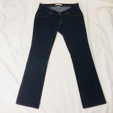 J BRAND Maternity Jeans Women's MAMA J 31x31  Straight Leg Dark Indigo MSRP $189