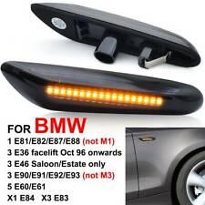 2PCS Dynamic LED Side Indicator Lights Fit For BMW X1 X3 E46 E60 E82 E87 E90 E92