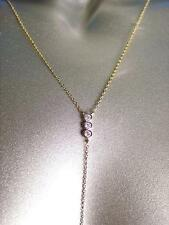CHIC Urban Anthropologie Dainty Gold Chain CZ Crystals Long Drop Dangle Necklace