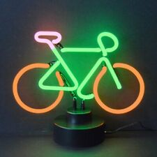 New Bicycle neon sign sculpture table lamp shelf light Bike shop racing road