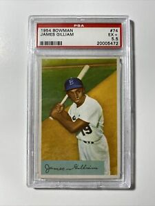 1954 BOWMAN JAMES GILLIAM #74 PSA EX +5.5