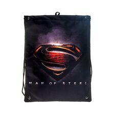 DC Comics Man Of Steel Movie Superman Logo Men's Drawstring Bag PE Kit Boys Gift