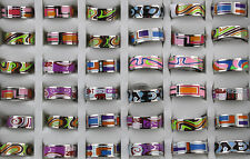 Job Lots 30pcs Mix Design stainless steel colorful High Quality Top Rings
