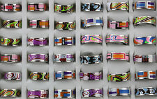Job Lots 30pcs Mix Design stainless steel colorful High Quality Top Rings0
