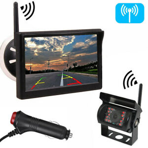 """Wireless IR Backup Camera with 5"""" Monitor System for Trailer Pickup Truck Camper"""