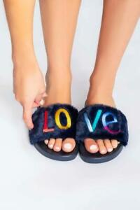 PJ Salvage Love Slippers - Navy
