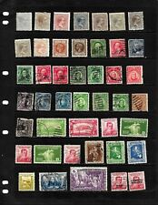 PHILIPPINES ;NICE 'VINTAGE'  STAMP COLLECTION  DISPLAYED ON 3 SHEETS. SEE SCANS