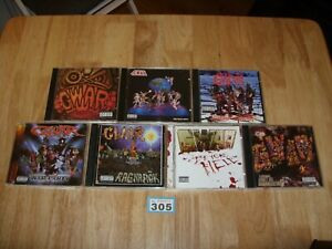 GWAR - 7 CD ALBUMS - RAGNAROK, WAR PARTY, BEYOND HELL, SCUMDOGS, etc - Lot 305