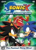 Sonic X: Chaos and Shadow Sagas- BRAND NEW DVD--FREE UPGRADE TO 1ST CLASS