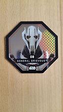REWE Star Wars Cosmic Shells Glitzer Karte Bild Sticker, General Grievous, Nr.8