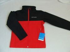 NWT Boys COLUMBIA Ascender Jacket Size 8 Soft Shell Fleece Coat Winter Red NEW