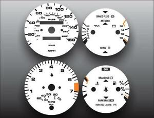 1986-1991 Porsche 944 Mpg Gauge Dash Instrument Cluster White Face Gauges