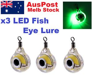 3x Green LED Underwater Fishing Attracting Flash Light Fish Deep Lure Flash
