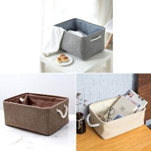 Laundry Hamper Basket Linen Clothes Storage Sorter Bin Cosmetic Organizer